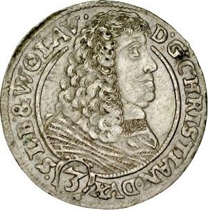 Śląsk, Księstwo Legnicko-Brzesko-Wołowskie, Chrystian 1639-1672, 3 krajcary 1661, Brzeg.