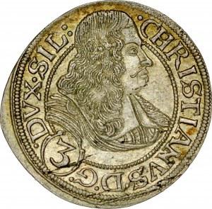 Śląsk, Księstwo Legnicko-Brzesko-Wołowskie, Chrystian 1639-1672, 3 krajcary 1668, Brzeg.