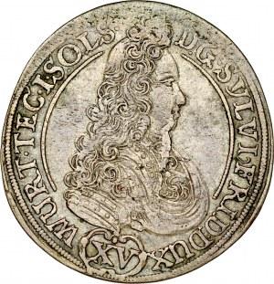 Śląsk, Księstwo Wirtembersko-Oleśnickie, Sylwiusz Fryderyk 1668-1697, XV krajcarów 1694, Oleśnica.
