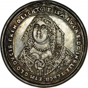 Śląsk, Księstwo Cieszyńskie, Elżbieta Lukrecja 1625-1653, Talar 1650, Cieszyn. KOPIA.