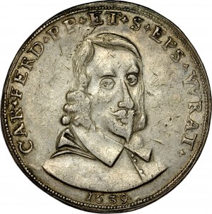 Śląsk, Księstwo Nyskie Biskupów Wrocławskich, Karol Ferdynand Waza 1625-1655, Dwutalar 1639, Nysa.
