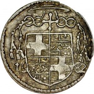 Śląsk, Księstwo Nyskie Biskupów Wrocławskich, Fryderyk Heski 1671-1682, Krajcar 1680, Nysa.