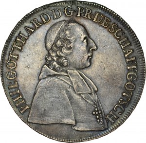 Śląsk, Księstwo Nyskie Biskupów Wrocławskich, Filip Gothard von Schaffgotsch 1747-1795, Talar 1753, Nysa.