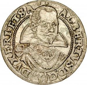 Śląsk, Księstwo Żagańskie, Albert von Wallenstein 1627-1634, 3 krajcary 1629, Żagań.