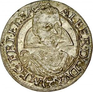 Śląsk, Księstwo Żagańskie, Albert von Wallenstein 1627-1634, 3 krajcary 1630, Żagań.