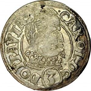 Śląsk, Księstwo Opawskie, Karol von Liechtenstein 1614-1627, 3 krajcary 1619, Opawa.