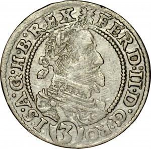 Śląsk, Ferdynand II 1620-1637, 3 krajcary 1630, Wrocław.