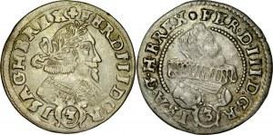 Śląsk, Ferdynand III 1637-1657, 3 krajcary 1639, 1642, Kłodzko.