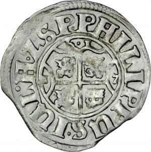 Pomorze, Filip Juliusz 1592-1625, Szeląg podwójny 1617, Nowopole.