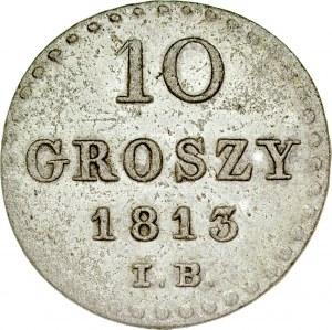 Księstwo Warszawskie, 10 groszy 1813, Warszawa.