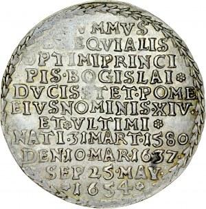 Pomorze, Bogusław XIV 1620-1637, 1/4 talara pośmiertnego, 1654, Szczecin, RR.