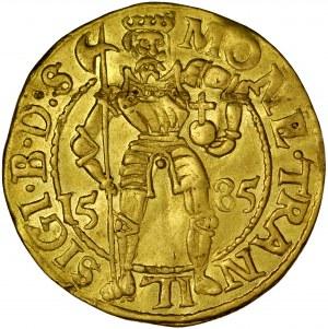 Transylwania, Zygmunt Batory 1581-1602, Dukat 1585, Szeben.