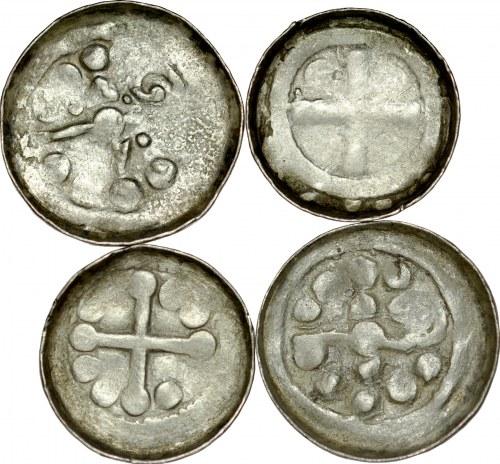 Denary krzyżowe XI w., zestaw 4 szt.