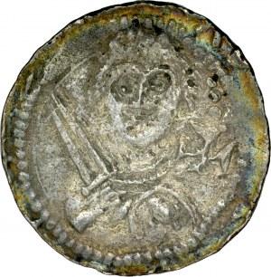 Władysław II Wygnaniec 1138-1146, Denar, Av.: Książę z mieczem, w polu krzyż, Rv.: Biskup z pastorałem i biblią.