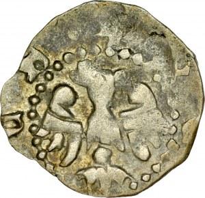 Władysław Łokietek 1306/1320-1333, Denar, Av.: Orzeł, Rv.: Hełm, RR.