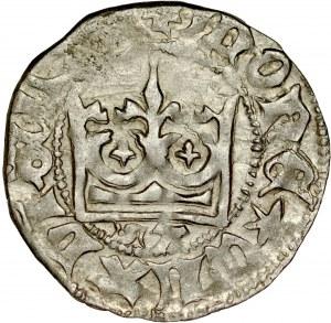 Władysław Jagiełło 1386-1434, Półgrosz, Kraków, Av.: Korona, pod nią litery SA, Rv.: Orzeł jagielloński.