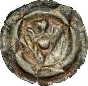 Ks. Raciborsko-Opolskie, Władysław I Opolski 1246-1281/1282, Brakteat, Av.: Orzeł heraldyczny z opuszczonymi skrzydłami z głową w lewo.