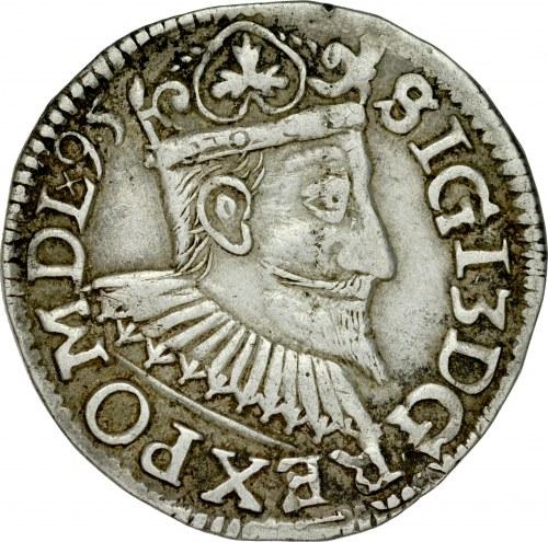 Zygmunt III 1587-1632, Trojak 1595/95, Poznań, RR.