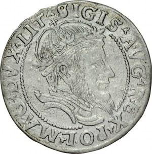 Zygmunt II August 1545-1572, Grosz na stopę litewską 1555, Wilno.
