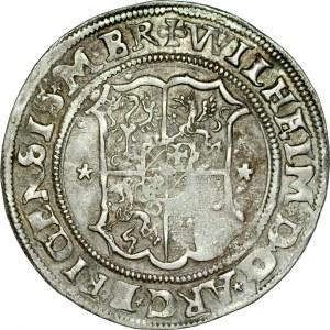 Zakon Kawalerów Mieczowych, Henryk von Galen 1551-1557 i Wilhelm von Brandenburg 1551-1556, 1/2 marki 1554, Ryga.