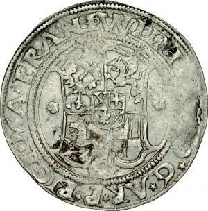 Zakon Kawalerów Mieczowych, Henryk von Galen 1551-1557 i Wilhelm von Brandenburg 1551-1556, 1/2 marki 1555, Ryga.