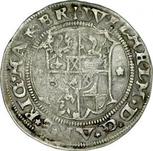 Zakon Kawalerów Mieczowych, Henryk von Galen 1551-1557 i Wilhelm von Brandenburg 1551-1556, 1/2 marki 1556, Ryga.