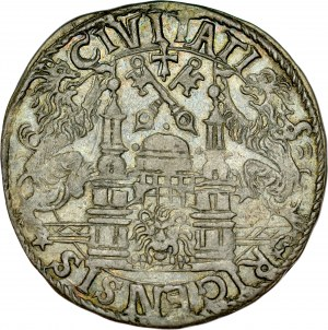 Miasto Ryga, 1/2 marki 1565, Ryga.