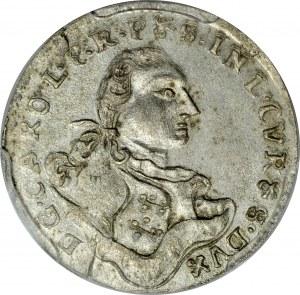 Kurlandia, Karol Chrystian 1758-1763, Grosz 1762, Mitawa.