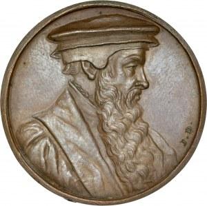 Medal ze suity autorstwa Jean Dassier, poświęconej wybitnym działaczom reformacji, Jan Łaski.