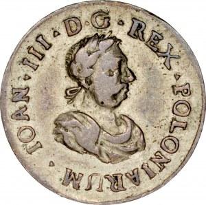 Medalik autorstwa Jana Leherra wybity w 1675 roku z okazji nadania królowi francuskich orderów Św. Ducha i Św. Michała.