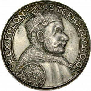 Medal odlewany, prawdopodobnie z XIX w. poświęcony Stefanowi Batoremu.