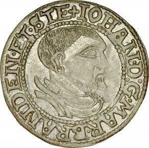 Śląsk, Księstwo Krośnieńskie, Jan Kostrzyński 1535-1571, Grosz 1544, Krosno.