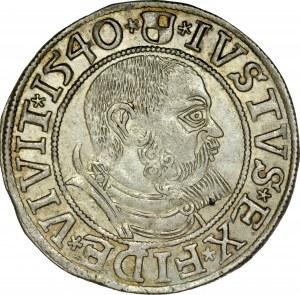 Prusy Książęce, Albrecht Hohenzollern 1525-1568, Grosz 1540, Królewiec.