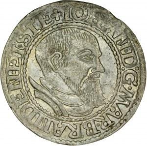 Śląsk, Księstwo Krośnieńskie, Jan Kostrzyński 1535-1571, Grosz 1545, Krosno.