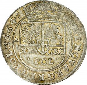 Jan II Kazimierz 1649-1668, Tymf 1664, Bydgoszcz, Kraków.