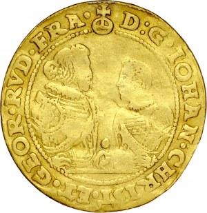 Śląsk, Księstwo Legnicko-Brzesko-Wołowskie, Jan Chrystian i Jerzy Rudolf 1603-1621, 4 dukaty 1610, Złoty Stok, RR.