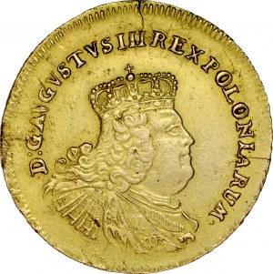 August III 1733-1763, 5 talarów 1755, Lipsk.