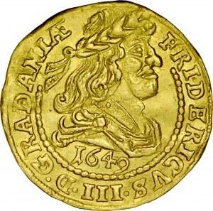 Dania, Fryderyk III 1648-1670, Dukat 1649, Kopenhaga.