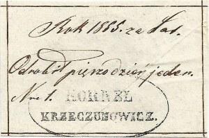 Bon dominialny z roku 1855, dóbra Krzeczunowiczów za odrobianą pańszczyznę, RR.