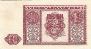 1 złoty 15.05.1946, bez oznaczenia serii.