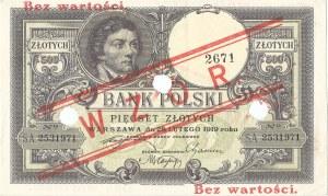 500 złotych 28.02.1919, seria S.A. 2531971, WZÓR.