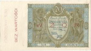 20 złotych 01.03.1926, seria N. 0245678, WZÓR.