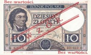10 złotych 15.07.1924, seria III EM. A 930910, WZÓR, RRR.