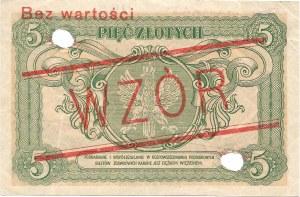5 złotych 01.05.1925, seria A 1234567 / A 8901234, WZÓR.