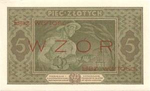 5 złotych 25.10.1926, seria A. 0245678, WZÓR.