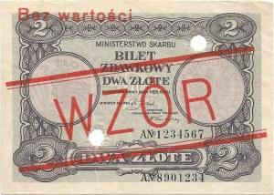 2 złote 01.05.1925, seria A 1234567 / A 8901234, WZÓR.