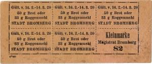 Karta żywnościowa, Bydgoszcz, luty/marzec 1920.