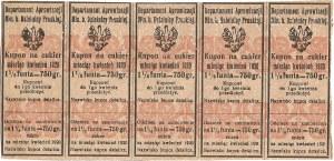 Karta żywnościowa, Departament Aprowizacji Ministerstwa byłej Dzielnicy Pruskiej, kwiecień 1920.