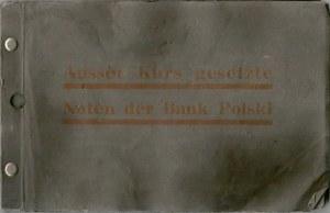 Album przygotowany przez niemieckie władze okupacyjne zawierające wycofane banknoty II RP. Na okładce napis: Ausser Kurs gesetzte Noten der Bank Polski.