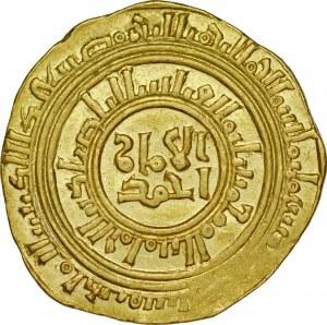 Dinar data nieczytelna, al-Quahira, al-Adil Abu Bakr AH 596-615.